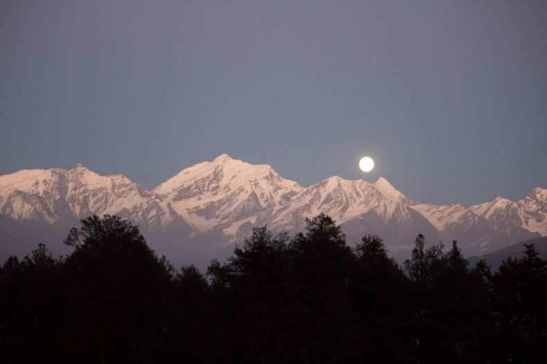 The Moon on the hills