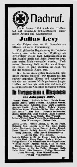 RhhB_Levy Jul Nachruf OI 2 Feb 1916