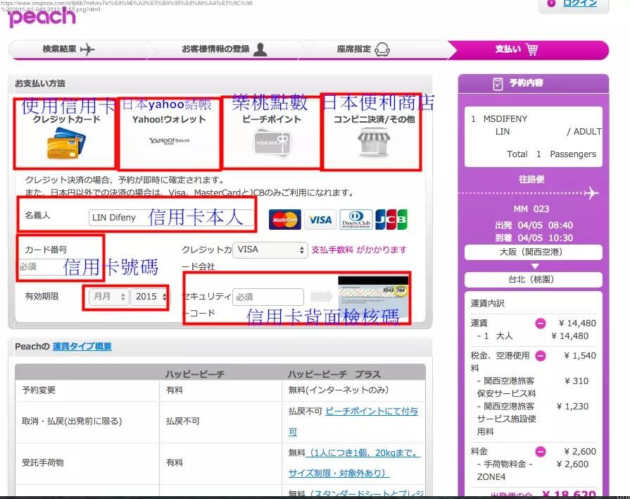 [旅行大小事。亞洲]日本樂桃(日本方)廉價航空網路訂票圖文教學。廉價航空讓你月月都能去日本。日文版樂 ...