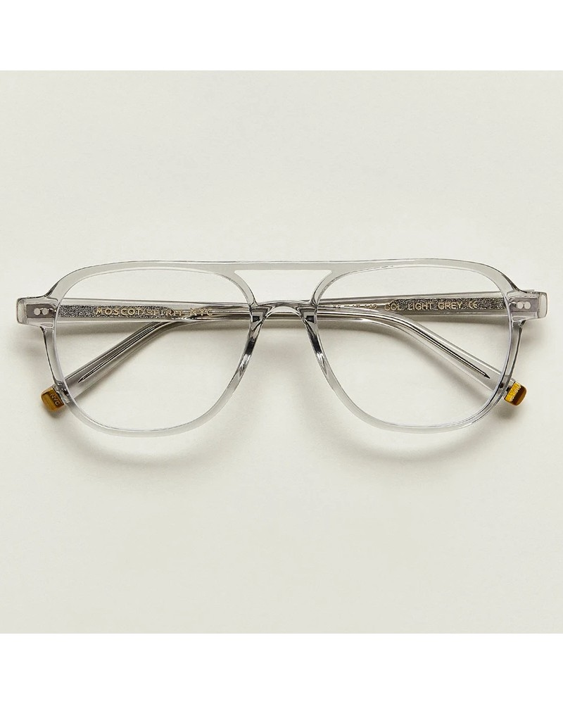 Moscot Bjorn | The iconic timeless aviator eyewear from Moscot Size Average Front color Light Grey
