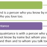 Difference Between Friend and Acquaintance