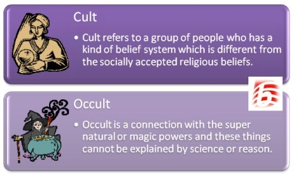 Difference Between Cult and Occult