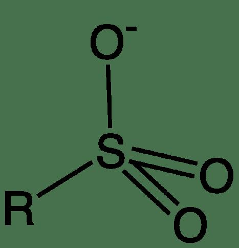 Key Difference - Sulfonate vs Sulfate