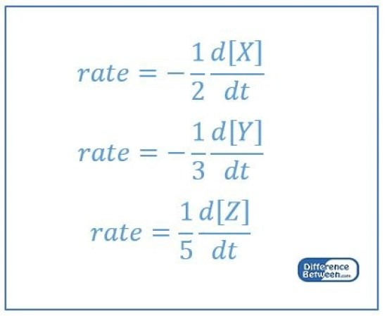 Difference Between Rate Expression and Rate Law