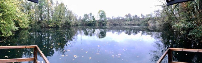 La carrière des Trois Fontaines vue du ponton