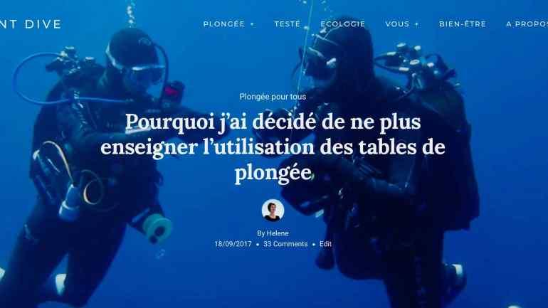 Deux plongeurs font un palier