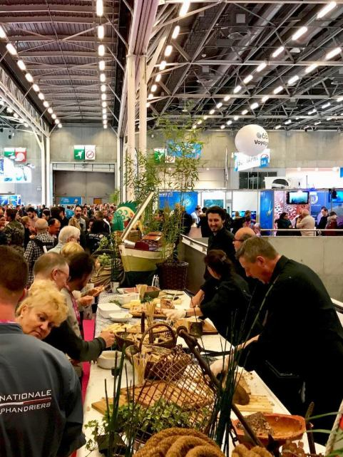 Le buffet du salon de la plongée de Paris 2018