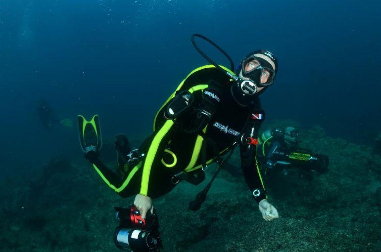 Pierre-Yves Cousteau en plongée sous-marine