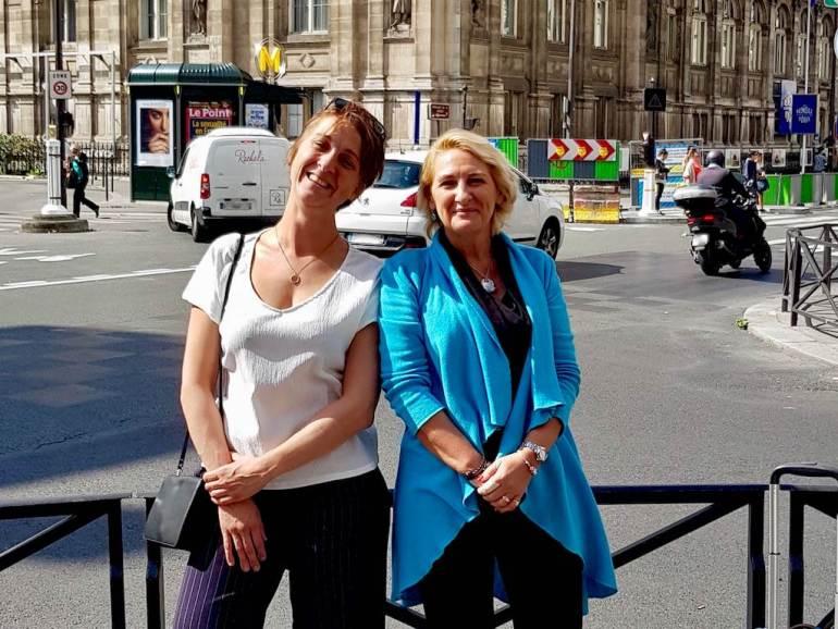 Hélène de Tayrac et Hélène Adam de Different Dive lors de leur rencontre à Paris