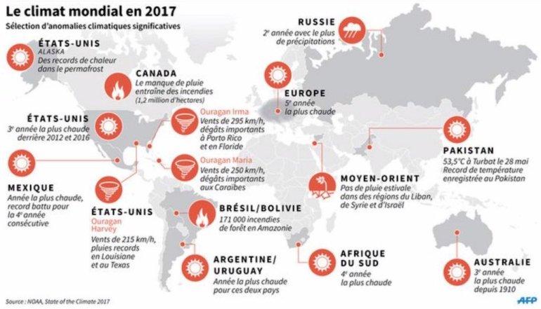 Une carte des catastrophes naturelles du monde