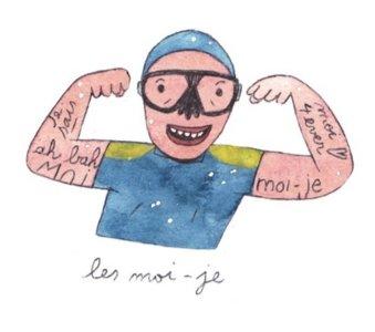 Illustration de Sara Quod représentant un plongeur de profil Moi-je
