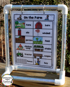 Display portable word walls on a mini anchor chart stand. This tabletop stand is great for a center!