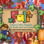 subitizing fall dot cards
