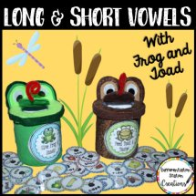 Free long and short vowels activities! DIY container creations or low-prep version. Differentiated long and short vowels fun!