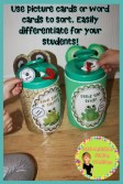Long and Short Vowel Sorts with Frog and Toad. DIY container characters to use with the vowel sorts.