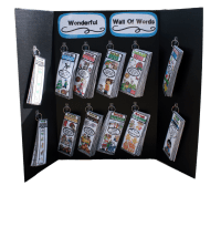 Portable Word Walls allow kids to access words all around the classroom. Low prep- Just print and laminate. The Grab & Go bundle includes editions for every month of the year. Tons of engaging themes!