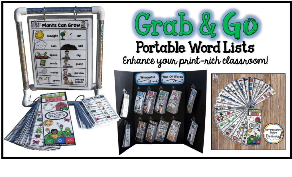 Portable Word Walls & Lists