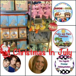 Enter this Christmas in July giveaway to win your own set of Mo Willems characters and a book!