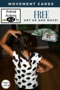 Get kids up and moving with animal action cards. Perfect for brain breaks and gross motor movements.