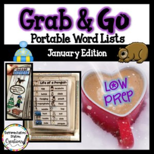 Use portable word walls to explore themes in January. Use to write about hibernation, penguins, winter, and the New Year!