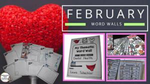 February Word Walls Thematic Writing