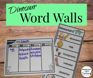 february word walls dinosaurs