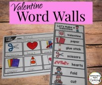 february word walls valentines