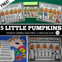 Free Five Little Pumpkins