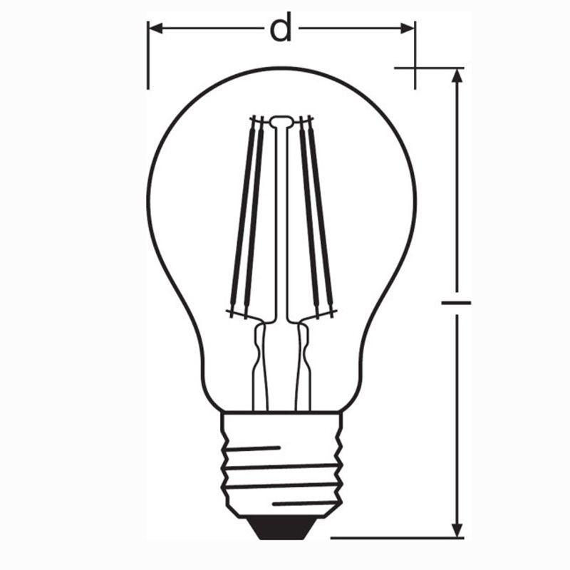 Osram LED Parathom Classic A60 E27 7W-60W 2700K 806lm