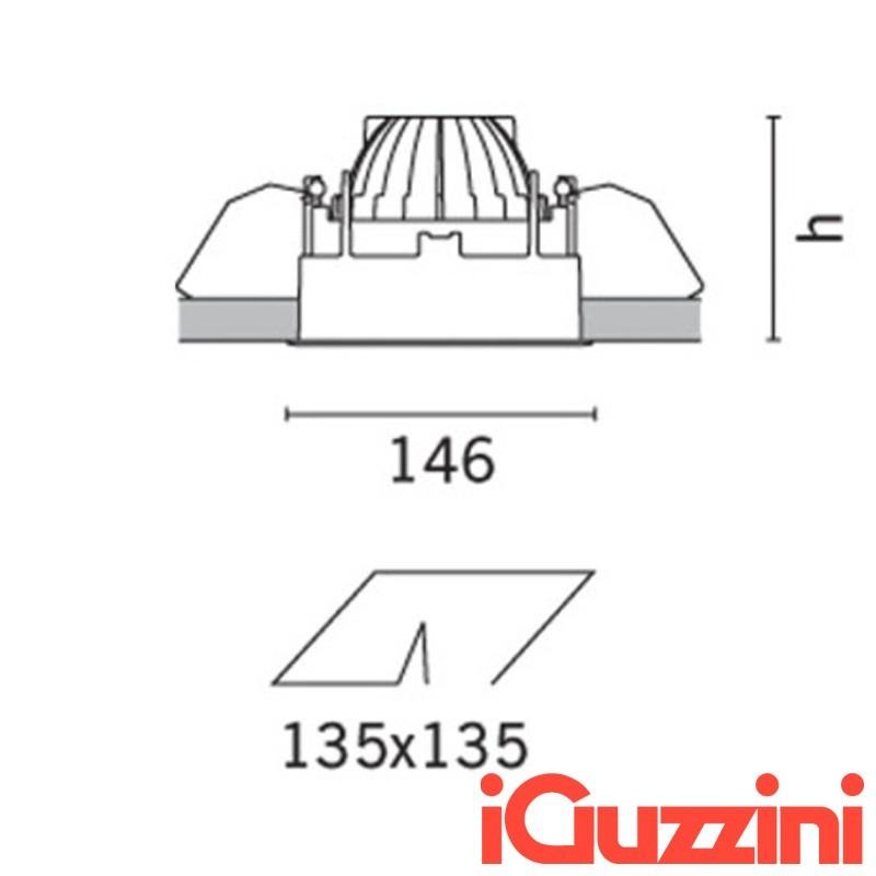 IGuzzini MA33 spotlight Recessed Deep Laser AR111 halogen