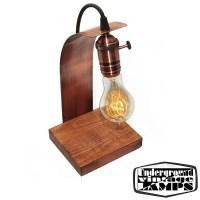 Handmade Table Lamp Virgola E27 Copper and Wood ...