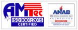 AMTec ISO 9001:2015 Certified Logo