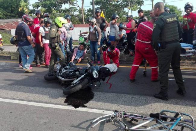 Adulto mayor muere tras accidente de tránsito en Barrancabermeja