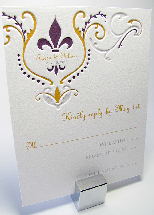Fleur De Lis Pocket Invitations Myexpression