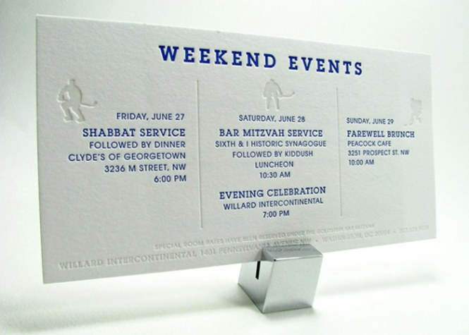 Letterpress Directions And Information Card For A Wedding Invitation Set