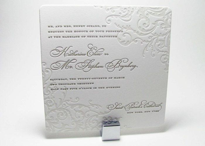 Elegant Flourish Wedding Invitations Digby Amp Rose