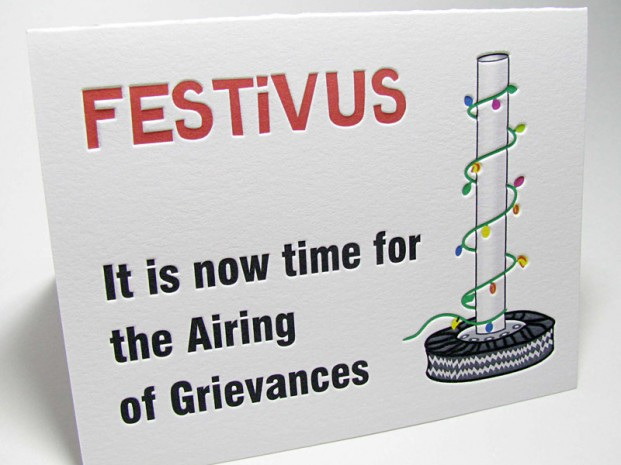 Festivus Airing Of Grievances Holiday Cards Digby Amp Rose