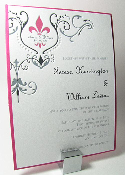 Fleur De Lis Wedding Invitations In 2012 Colors Digby