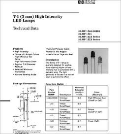 HLMP1523 datasheet  Led 3mm Green