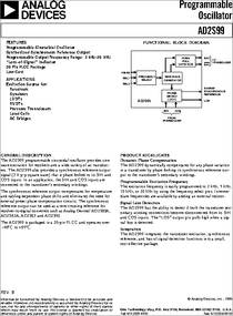 AD2S99APZ datasheet - Specifications: Operating Mode: - ; No. of Timers: