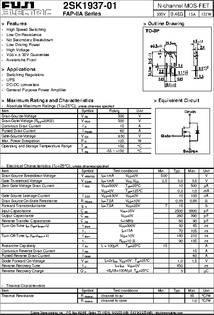 2SK1937 01 Datasheet N Channel MOS FET