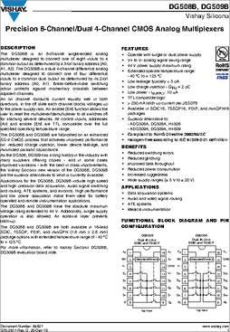 DG508 DATASHEET PDF