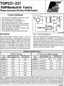 high voltage circuit diagram integra 1630 wiring top223yn datasheet - specifications: manufacturer: power integrations ; product