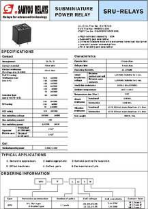 SRUS112L datasheet  Solid State Relays Solid State Relays