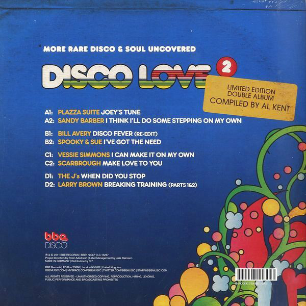 Various ‎– Disco Love 2: More Rare Disco & Soul Uncovered LP