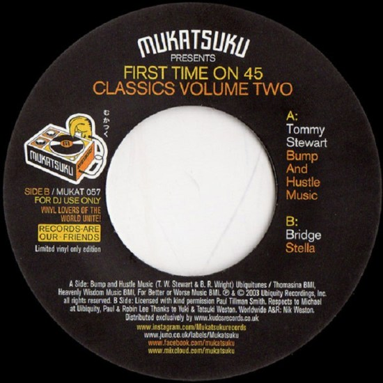 Tommy Stewart - Bridge - Mukatsuku Presents First Time On 45 Classics Volume 2