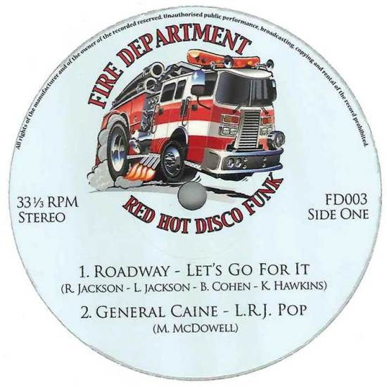 Fire Department Vol 3: Blazin' Hot Disco Funk & Boogie