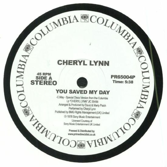 Cheryl Lynn - You Saved My Day