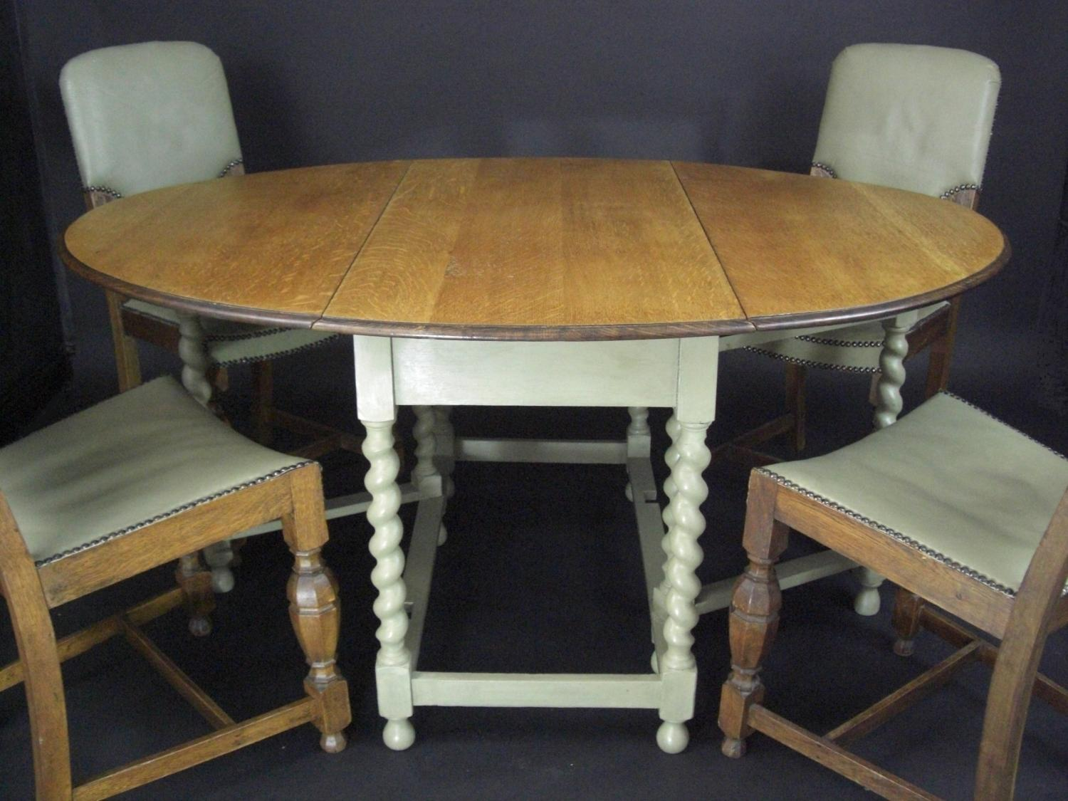 gateleg table with chairs childs plastic and chair oak sage painted in sold recently