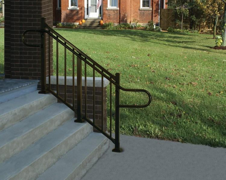 Westbury® Aluminum Ada Continuous Handrail Digger Specialties | Ada Compliant Exterior Handrails | Stainless Steel | Deck Railing | Extension | Vinyl | Hand Rail